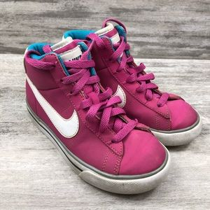 NIKE girls lace up high top sneaker